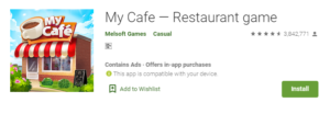 My cafe - resturant offline game for oneplus download