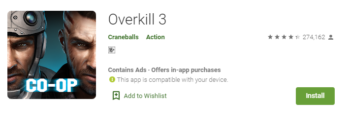 Overkill 3 download free for android