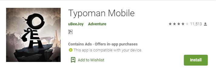 Typoman mobile download free
