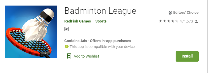badminton league download free for oneplus