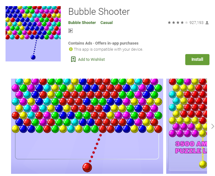 bubble shooter free offline games for oneplus